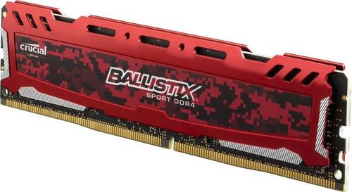 memoria crucial ddr4 4gb 2666mhz ballistix red pc4-21300