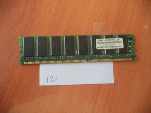 memoria ddr 128 mb  pc2100 cl2.5