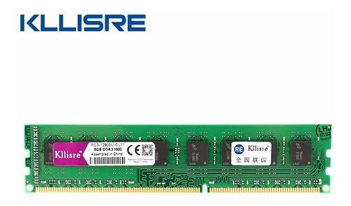 memória ddr 3 8 gb kllisre  p/ placa amd 1600mhz top linha