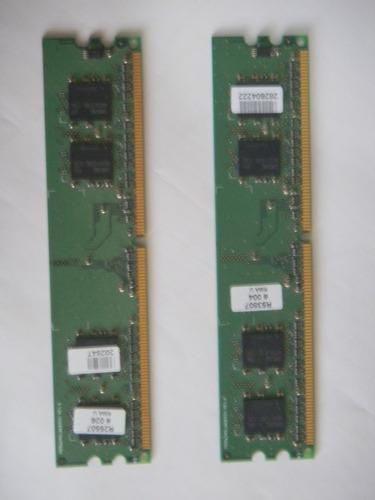 memória ddr para computador desktop - lote com 2