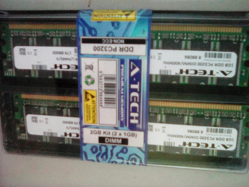 memoria ddr pc3200 dimm/400mhz a-tech