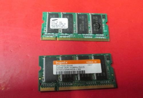 memória ddr1 notebook dell 2650 - 2 modulos total 384mb