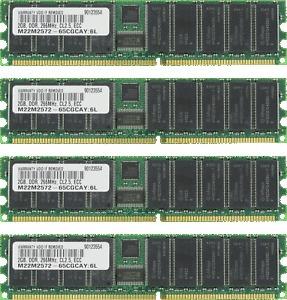 memoria ddr1 pc2100/pc266 2 gb ecc -  p/n: 301044-b servidor
