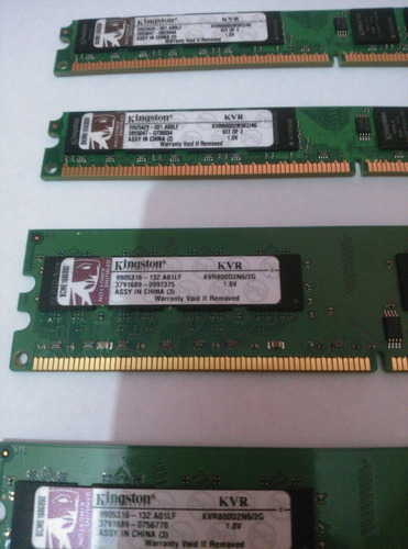 memoria ddr2 2 gb kingstong 800 mhz, o marca buffalo