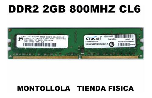 memoria ddr2 2gb buss 800 mhz para intel/amd compatible 667