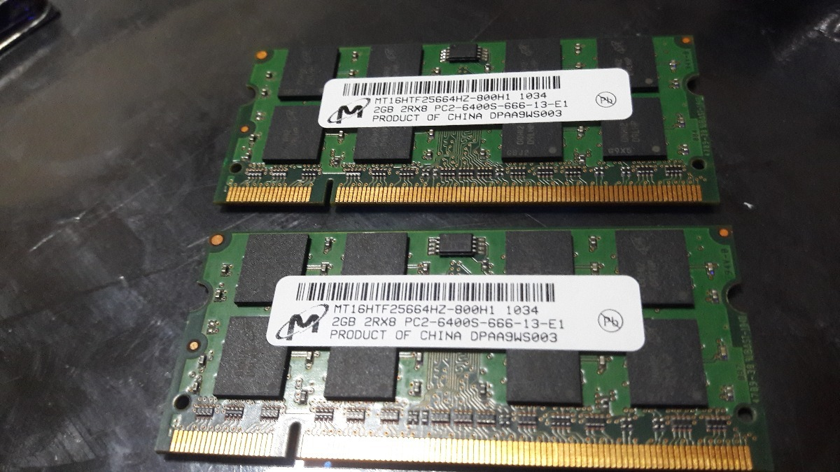 Memoria Ddr2 2gb 800mhz Pc2 6400 Sodimm Notebook Netbook Mac 900 6400s Cargando Zoom