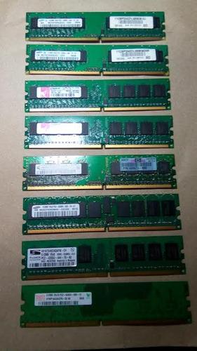 memoria ddr2 512mb varias marcas