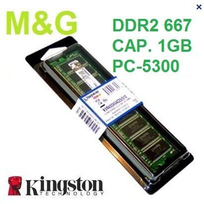 memoria ddr2 bus 667 pc2-5300 1gb kingston en blíster pc