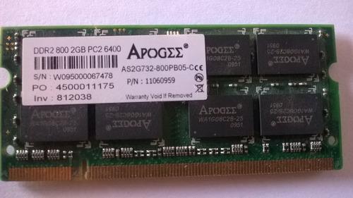 memória ddr2 de 2gb 800mhz para notebooks.