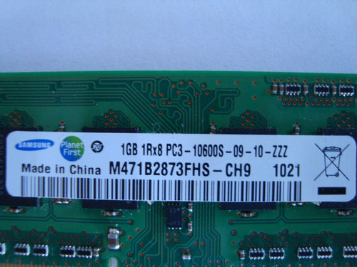 memoria ddr3 1gb  10600s netbook samsung