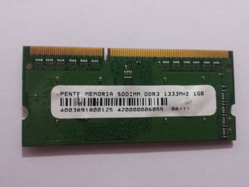 memória ddr3 1gb notebook pc3-10600 ddr3-1333 hbs