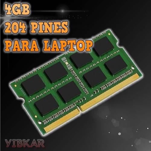 memoria ddr3 4gb 1333 mhz pc3-10600 1.5v para laptop nueva!