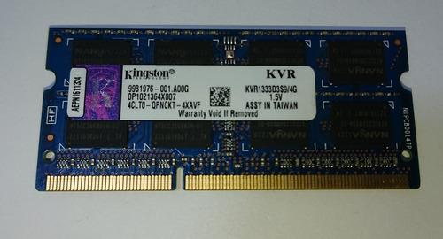 memoria ddr3 4gb 1333mhz 1.5v kingston kvr1333d3s9/4g