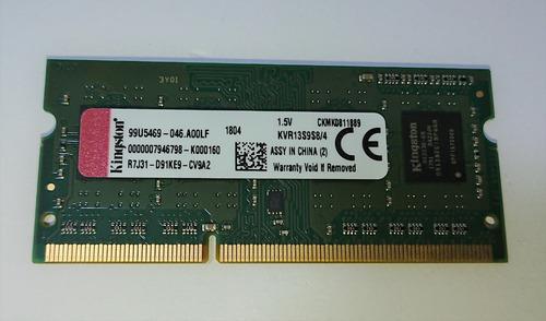 memoria ddr3 4gb 1333mhz 1.5v kingston kvr13s9s8
