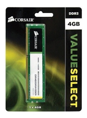 memoria ddr3 corsair 4gb 1333 mhz value officomputers