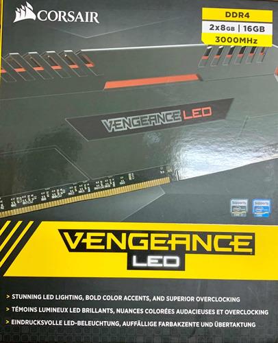 memória ddr4 16gb corsair vengeance gamer led 3000 mhz