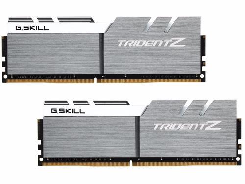 memória ddr4 16gb g.skill trident z 3200mhz 2x 8gb white/sil