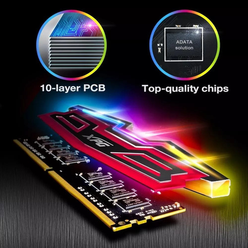 memoria ddr4 8gb 2400mhz adata xpg spectrix d40 rgb gamer