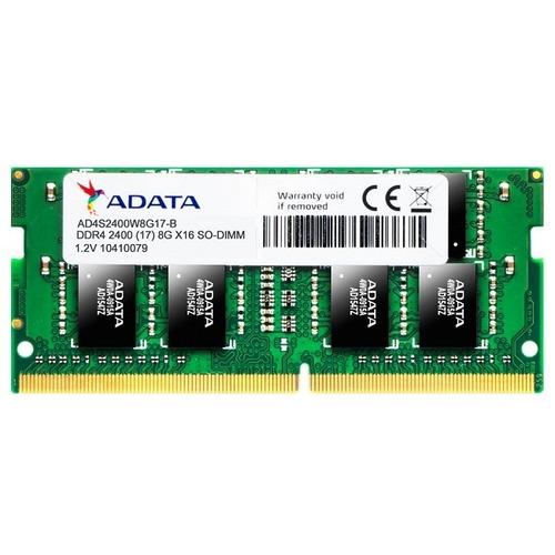 memoria ddr4 adata 8gb 2400 mhz sodimm ad4s240038g17-s