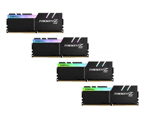 memória ddr4 g.skill trident z 32gb 3200mhz (4x8) rgb amd