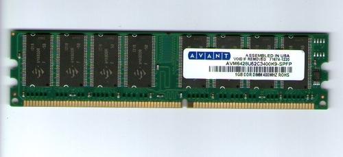 memoria ddr400 pc-3200 de 1gb, baja densidad para pc