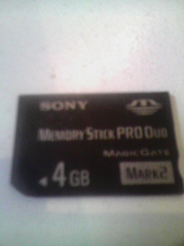 memoria de 4 gb sony stick produo magic gate original sony