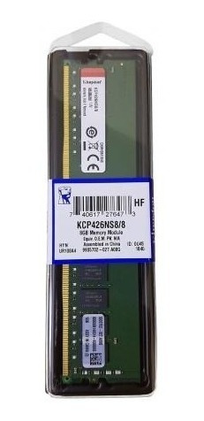 memória desktop 8gb ddr4 2666mhz kcp426ns8/8 kingston