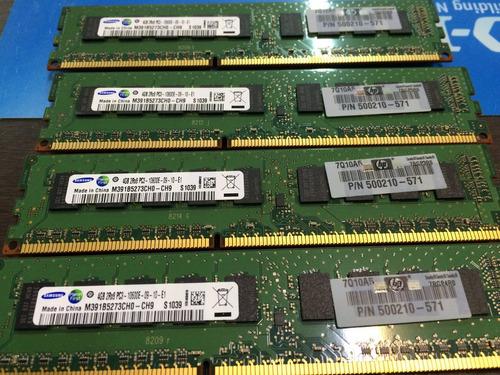 memoria ecc 4gb pc3-10600e udimm hp 593923-b21 647657-071