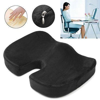 Memoria espuma asiento coxis coj n ortop dico oficina for Cojin lumbar silla oficina