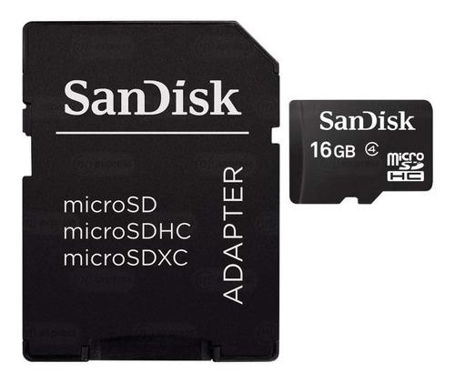 memoria externa micro sd clase 10 sandisk 16 gb adaptador sd
