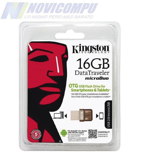 memoria flash pendrive kingston 16gb usb-otg 2en1 microduo