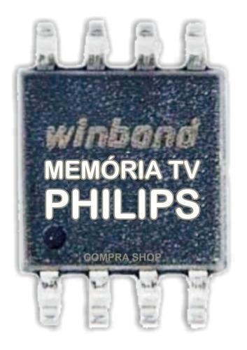 memoria flash tv philips 42pfl3008d/78 chip gravado original