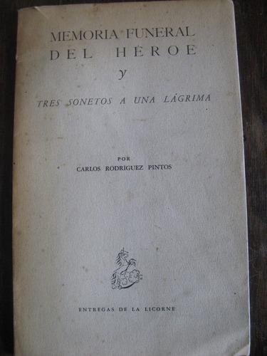memoria funeral del héroe y tres sonetos a una lágrima