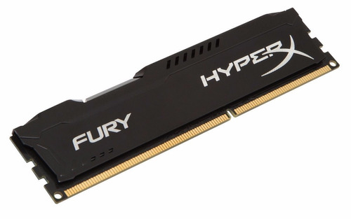 memória gamer kingston 4gb ddr3 1866mhz hyper x fury preto