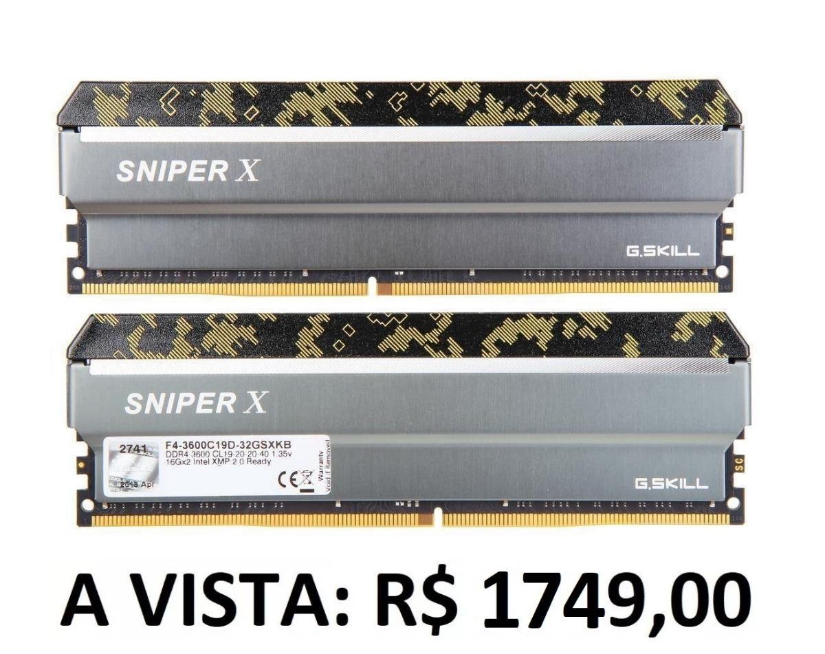 Memória G skill Sniper X Series 32gb (2x16gb) Ddr4 3600mhz