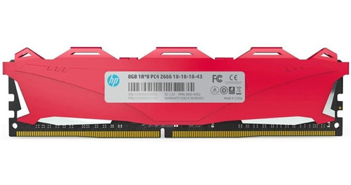 memoria hp v6 series 8gb 2666mhz ddr4 red dimm pc gamer