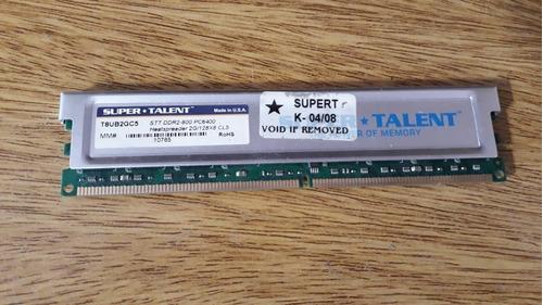 memoria hp y super-talent, ddr2 de 2gb, 800mhz - usadas.-