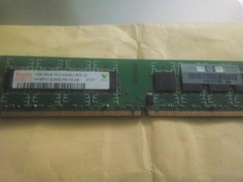 memoria hynix 1gb,2rx8,pc2,5300u,555-12