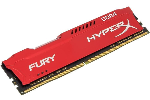 memória hyperx fury, 16gb, 3466mhz, ddr4, cl19, vermelho.