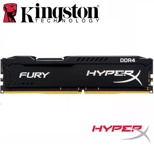 memoria hyperx fury 8gb ddr4 2400mhz kingston game original