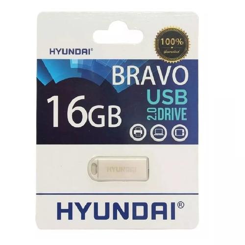 memoria hyundai usb 16gb metalica mayoreo garantia keychain