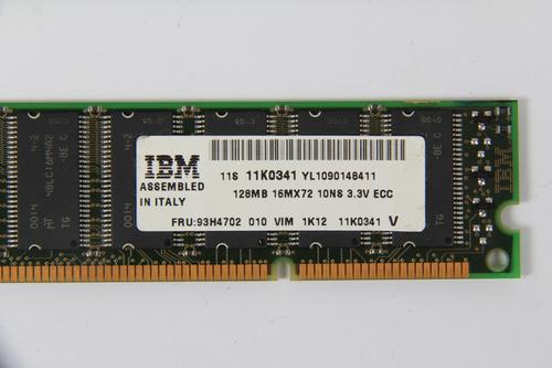 memória ibm 128mb 200p pc66 18c 16x4 ecc sdram dimm 93h4702