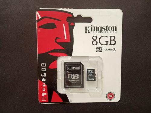 memoria icro sd 8gb kingston