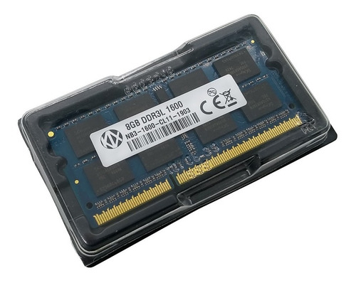 memoria kalex 8gb notebook ddr3 pc3l 12800s 1600mhz