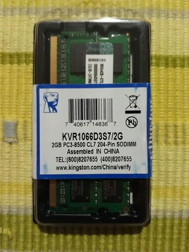 memoria kingston 2gb pc3-8500 ddr3