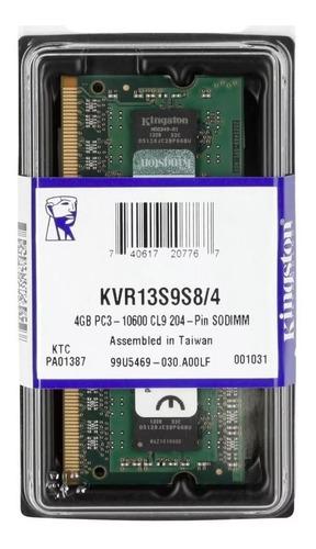 memória kingston 4gb 1333mhz ddr3 p/ notebook cl9