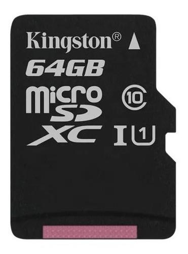 memoria kingston 64gb micro sd clase 10 xc 80mbs original
