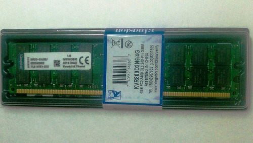 memoria kingston ddr2 4gb un solo banco