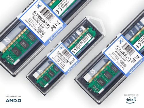 memoria kingston ddr3 4gb 1333 mhz pc3 10600 kvr1333d3n9/4g