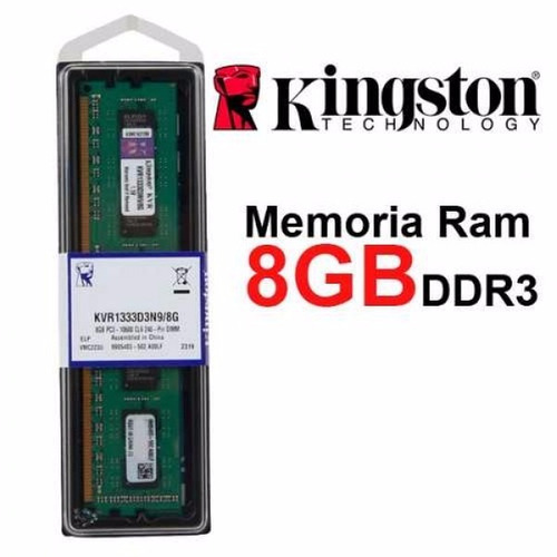 memoria kingston dimm ddr3 8gb 1333 mhz desktop